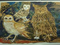 Mark Hearld's 'Birds & Beasts' exhibition at the Yorkshire Sculpture Park, 2012