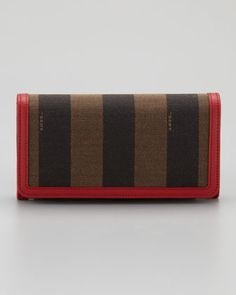 Pequin Flap Organizer Continental Wallet by Fendi at Neiman Marcus.