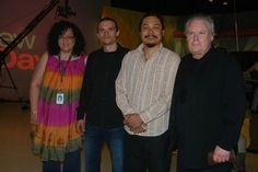 With Michael Shrieve and his band