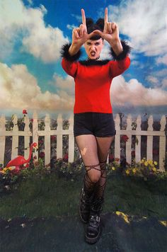 90s Marabou Clueless sweater red and black by SidewalkSpectacle, $38.00