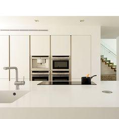 Modern white handleless kitchen | Kitchen designs | Bespoke kitchens | Beautiful Kitchens | Housetohome