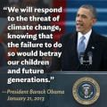Ask President Obama to use the State of the Union address to remind the country of our urgent need for climate action. 1/27/2014