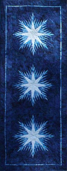 Winter Wonderland Table Runner ~ Quiltworx.com made by Certified Instructor, Ginny Radloff