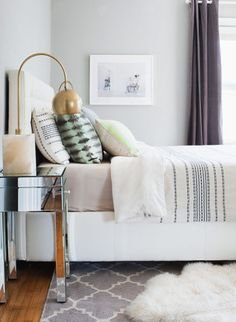 Homepolish | Fashion Toast Bedroom | In love with the soft yet colorful hues, patterns, sheep's pelt