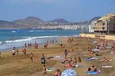 Playa de las Canteras. Officially the best beach in the Canary Islands with it´s Q for Quality award and of course blue flag