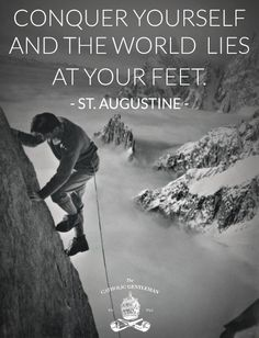 Conquer yourself and the world lies at your feet. - Saint Augustine of Hippo. Roman African, early Christian theologian and philosopher from Numidia whose writings influenced the development of Western Christianity and Western philosophy. St Augustine Quotes, Augustine Of Hippo, Catholic Quotes, Religious Quotes, Catholic Gentleman, Catholic Saints, Art Of Manliness, Spiritus, Frases