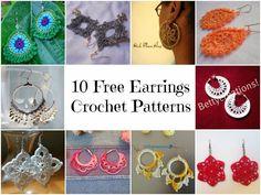 keepingbusy: 10 Free Earrings Crochet Patterns  How wonderful is that?  I plan to work up some for myself!