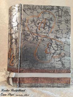 Buchcover für Hochzeitsbuch in Aluminiumdesign Vintage World Maps, Design, Handarbeit, Creative, Design Comics