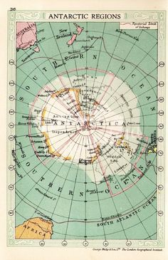 1935 ANTARCTICA map, #monogramsvacation