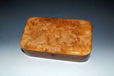 Handmade Mahogany Wood Treasure Box with Maple Burl by BurlWoodBox $37 Ready for that special Valentine !
