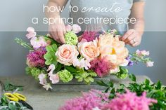 Floral DIY: How to create a spring centrepiece by @liz inigo jones on @b.loved shot by www.annelimarinovich.com