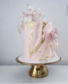 Elegant Birthday Cakes, Cute Birthday Cakes, Beautiful Birthday Cakes, Elegant Cakes, Beautiful Wedding Cakes, Gorgeous Cakes, Pretty Cakes, Cute Cakes, Cake Decorating Videos