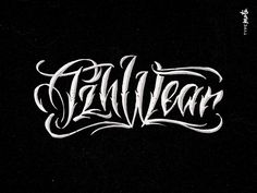 PzhWear lettering logo sketches by Typemate