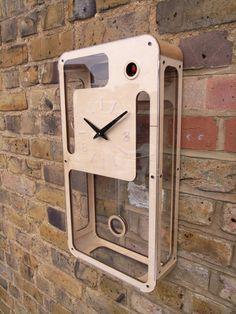 Quercus Modern Cuckoo Clock Programmed van pedromealha op Etsy