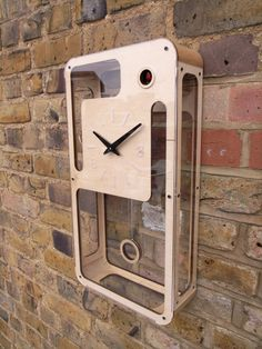 B83 modern cuckoo clock with moving bird by pedromealha on Etsy,
