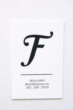 novel business card