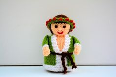 Ghost of Christmas Present Doll Knitting Pattern by Joanna Marshall, £2.60 GBP