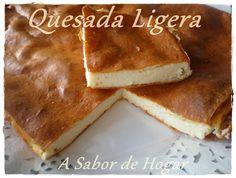 A SABOR DE HOGAR: QUESADA LIGERA (I) hacer 1/2 receta con 1 huevo y 1 clara 250 de burgos 1 yogur con trozos 15gr de maicena edulco