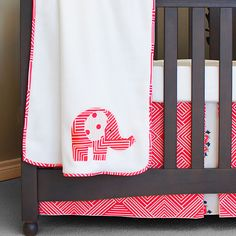 Elephant Baby Blanket, Elephant Applique, Touch Of Gray, White Nursery, Bedding Collections, Reusable Tote Bags, Coral, Colours, Fabric