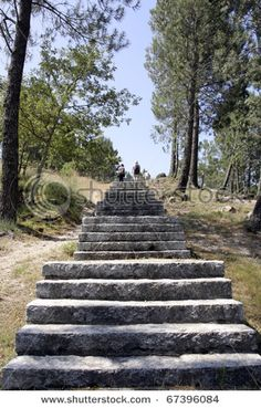 Stone Staircase with people going up