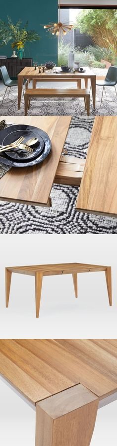 Expandable Dining Table - Raw Acacia Wood