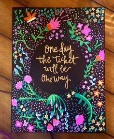 Quote Black Floral Canvas Painting - Home Decor - Wall Art - Quote Canvas - Bible Painting - Bible Canvas - Gold Canvas - pinned by pin4etsy.com