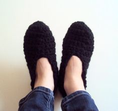 Chunky Slippers For Men or Women Crochet Slippers Slippers Extra Thick Indoor Slippers House Shoes