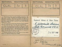 Register The Wartime National Register Trace Ww Ancestors Intended For World War 2 Identity Card Template - Professional Templates Ideas Place Card Template, Birthday Card Template, Christmas Card Template, Free Business Card Templates, Best Templates, Label Templates, Farewell Invitation Card, Baseball Card Template, Employees Card
