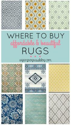 Must pin! This is a great affordable selection of rugs!
