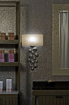 Glitter Wall- perfect for a wall in the master closet. My closet, not my husband's.