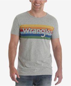 Wrangler Men's 70th Anniversary Collection Rainbow Logo T-Shirt