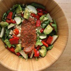 THE SIMPLE VEGANISTA: Farmers Market Salad w/ Marinaraw Sauce
