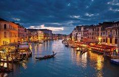 Take a tour of The Grand Canal or Canal Grande in Venice, Italy which is a popular tourist attraction that also separates Venice into two distinct parts. Grand Canal, Italy Vacation, Vacation Spots, Italy Travel, Venice Travel, Italy Honeymoon, Honeymoon Registry, Vacation Packages, Honeymoon Planning