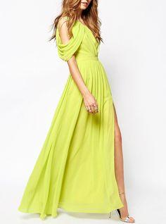 One-Shoulder Split Maxi Dress