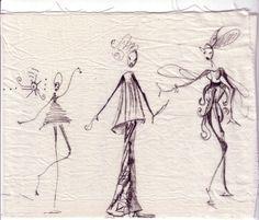 petites fées de Sofi ...dessins sur tissu