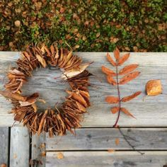 Nature Craft  | Make the  Easiest Leaf Wreath (ever) | willowy