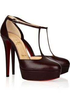 Christian Louboutin Top LA 140 leather T-strap pumps - 45% Off Now at THE OUTNET - StyleSays