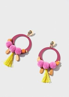 Bead loop earrings   MANGO