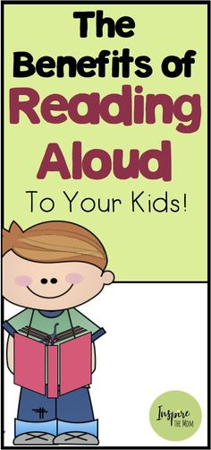 Benefits of Reading Aloud to Your Kids - Inspire the Mom Comprehension Activities, Reading Strategies, Reading Comprehension, Book Activities, Reading Aloud, Preschool Activities, Listening Activities, Kids Reading, Teaching Reading
