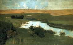 Russian landscape painter Isaak Levitan (1860-1900)