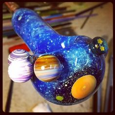 Borosilicate Lampworking & Glassblowing by Eric Duyette Weed Bong, Glass Pipes And Bongs, Cool Pipes, Cool Bongs, Galaxy Planets, Puff And Pass, Up In Smoke, Glass Art, Cannabis
