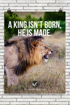 A KING ISN'T BORN | Poster – PutMotivationOn Follow all our motivational and inspirational quotes. Follow the link to Get our Motivational and Inspirational Apparel and Home Décor. #quote #quotes #qotd #quoteoftheday #motivation #inspiredaily #inspiration #entrepreneurship #goals #dreams #hustle #grind #successquotes #businessquotes #lifestyle #success #fitness #businessman #businessWoman #Inspirational