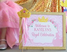 SLEEPING BEAUTY Party - Disney Princess Party - WELCOME Sign - Aurora - Girls Birthday Party - Woman - Bridal Shower - Pink Princess Party