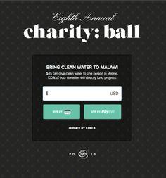 Charity:water Charity:Ball monogram