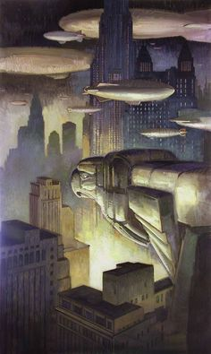 "The art deco styled ""Sentry"" painted by Francis Livingston Arte Sci Fi, Sci Fi Art, Graphisches Design, Art Deco Design, Game Design, Diesel Punk, Art Deco Illustration, Illustrations, Art Deco Posters"