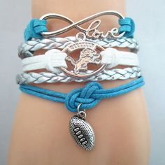 Infinity Love Detroit Lions Football - Show off your teams colors! Cutest Love Detroit Lions Bracelet on the Planet! Don't miss our Special Sales Event. Many teams available. www.DilyDalee.co