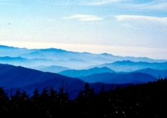 """Blue Ridge Mountains, Asheville, North Carolina. I know I profess to be an Idaho girl through and through, but when we went to my father-in-law's """"home town"""" in 2008, I fell in love with everything except the humidity. The blue ridge mountains were among my favorite locational beauties we saw."""