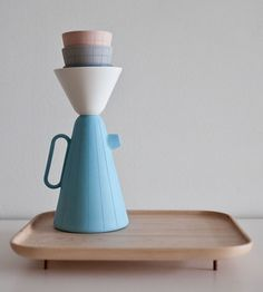 Designed by Luca Nichetto in collaboration with Lera Moiseeva, Sucabaruca is a ceramic pour-over coffee set created for Canadian design shop Mjölk