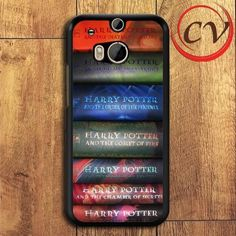 Harry Potter Books Series HTC One M8 Black Case