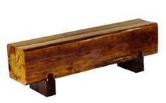 Miles & May reclaimed heart pine bench.